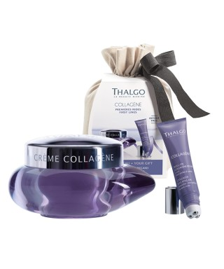Collagen set krema za obraz in roll on za oči Thalgo