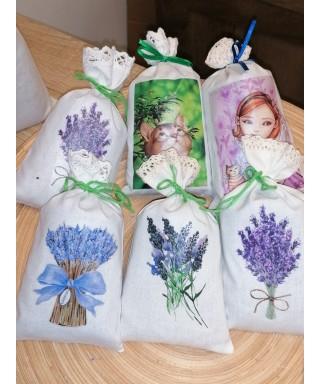 BIO dišeča vrečka s sivkinimi cvetovi